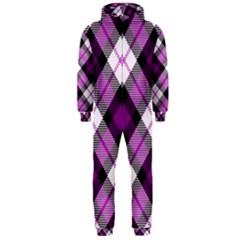 Smart Plaid Purple Hooded Jumpsuit (Men)