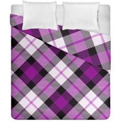 Smart Plaid Purple Duvet Cover (double Size)