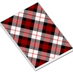 Smart Plaid Red Large Memo Pads