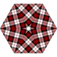 Smart Plaid Red Mini Folding Umbrellas