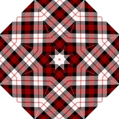 Smart Plaid Red Golf Umbrellas