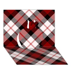 Smart Plaid Red Apple 3D Greeting Card (7x5)