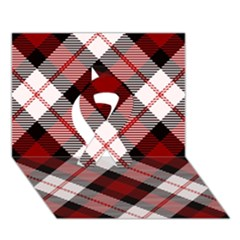 Smart Plaid Red Ribbon 3D Greeting Card (7x5)