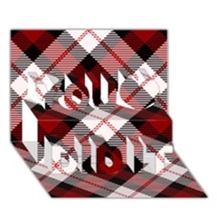 Smart Plaid Red You Did It 3D Greeting Card (7x5)