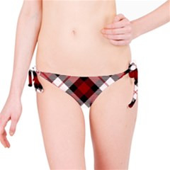 Smart Plaid Red Bikini Bottoms