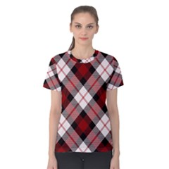 Smart Plaid Red Women s Cotton Tees