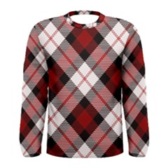 Smart Plaid Red Men s Long Sleeve T-shirts