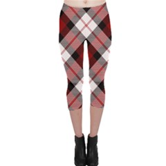 Smart Plaid Red Capri Leggings