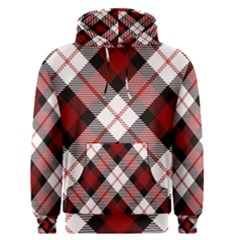 Smart Plaid Red Men s Pullover Hoodies