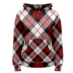 Smart Plaid Red Women s Pullover Hoodies