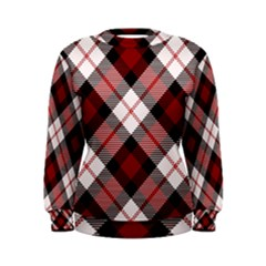 Smart Plaid Red Women s Sweatshirts