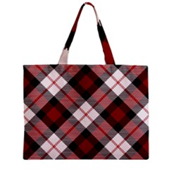 Smart Plaid Red Zipper Tiny Tote Bags