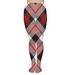 Smart Plaid Red Women s Tights