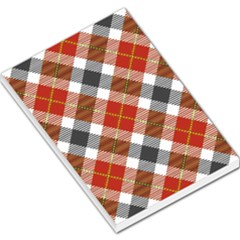 Smart Plaid Warm Colors Large Memo Pads