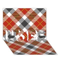 Smart Plaid Warm Colors Hope 3d Greeting Card (7x5)