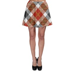 Smart Plaid Warm Colors Skater Skirts