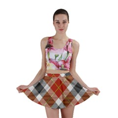 Smart Plaid Warm Colors Mini Skirts