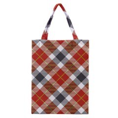 Smart Plaid Warm Colors Classic Tote Bags