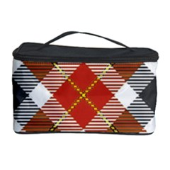 Smart Plaid Warm Colors Cosmetic Storage Cases