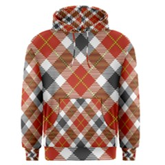 Smart Plaid Warm Colors Men s Pullover Hoodies