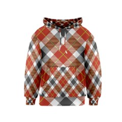 Smart Plaid Warm Colors Kid s Pullover Hoodies