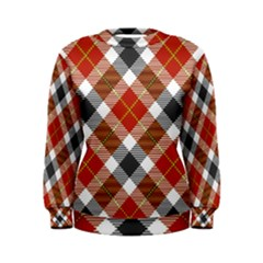 Smart Plaid Warm Colors Women s Sweatshirts