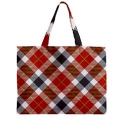 Smart Plaid Warm Colors Zipper Tiny Tote Bags
