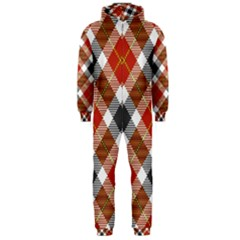 Smart Plaid Warm Colors Hooded Jumpsuit (men)