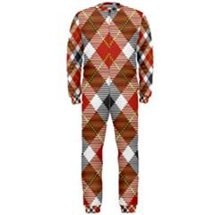 Smart Plaid Warm Colors OnePiece Jumpsuit (Men)