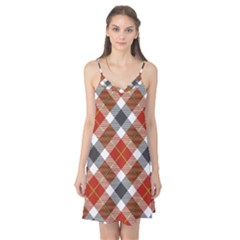 Smart Plaid Warm Colors Camis Nightgown