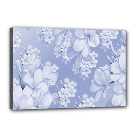 Delicate Floral Pattern,blue  Canvas 18  X 12