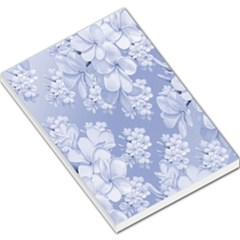 Delicate Floral Pattern,blue  Large Memo Pads