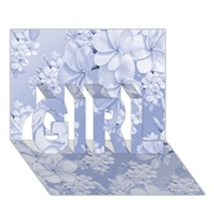 Delicate Floral Pattern,blue  Girl 3d Greeting Card (7x5)