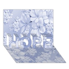 Delicate Floral Pattern,blue  Hope 3d Greeting Card (7x5)