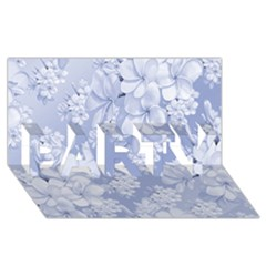 Delicate Floral Pattern,blue  Party 3d Greeting Card (8x4)