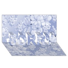 Delicate Floral Pattern,blue  SORRY 3D Greeting Card (8x4)