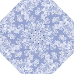 Delicate Floral Pattern,blue  Hook Handle Umbrellas (Small)