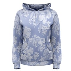 Delicate Floral Pattern,blue  Women s Pullover Hoodies