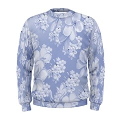 Delicate Floral Pattern,blue  Men s Sweatshirts
