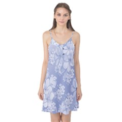 Delicate Floral Pattern,blue  Camis Nightgown