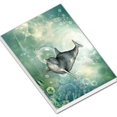 Funny Dswimming Dolphin Large Memo Pads