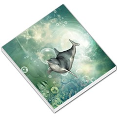 Funny Dswimming Dolphin Small Memo Pads