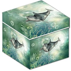 Funny Dswimming Dolphin Storage Stool 12