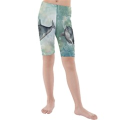 Funny Dswimming Dolphin Kid s swimwear