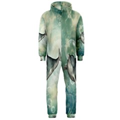 Funny Dswimming Dolphin Hooded Jumpsuit (men)