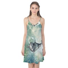 Funny Dswimming Dolphin Camis Nightgown