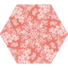 Delicate Floral Pattern,pink  Mini Folding Umbrellas