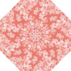Delicate Floral Pattern,pink  Hook Handle Umbrellas (Medium)