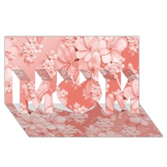 Delicate Floral Pattern,pink  MOM 3D Greeting Card (8x4)