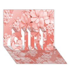 Delicate Floral Pattern,pink  GIRL 3D Greeting Card (7x5)